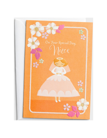 Communion Greeting Card - Niece - Special Day - 1 Premium Card