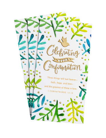 Confirmation Greeting Cards - Celebrating Your Confirmation - 3 Money or Gift Cards