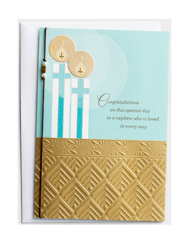 Communion Greeting Card - Nephew - Special Day - 1 Premium Card