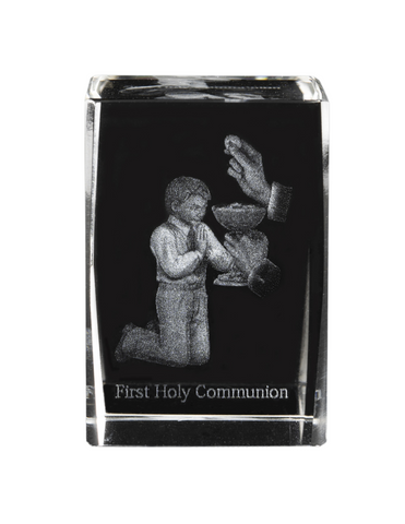 Boy First Holy Communion Etched Glass Communion Etched Glass Communion keepsake communion souvenir