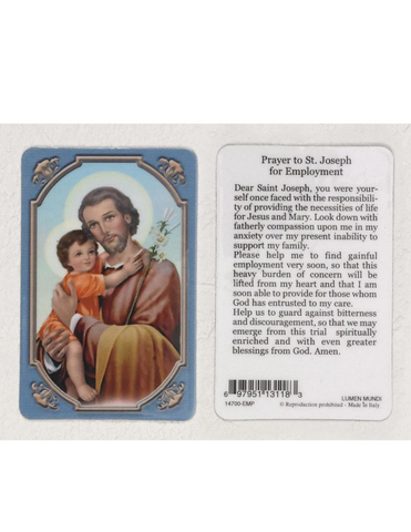 Saint Joseph Prayer Card for Employment Saint Joseph Prayer Card St Joseph Prayer Card St. Joseph Prayer Card