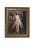 "13"" The Divine Mercy Ornate Gold Finish Frame - Jesus Misericordioso"