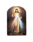 The Divine Mercy Jesus Christ Arched Tile Plaque With Stand Divine Mercy Plaque Divine Mercy tile plaque divine mercy catholic items divine mercy gifts divine mercy collection