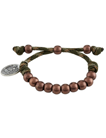 St. Michael the Archangel Paracord Camouflage Bracelet - Jungle Green Paracord Camouflage Bracelet - Jungle Green Military Protection St. Michael Armed Forces Protection Armed Forces Guidance