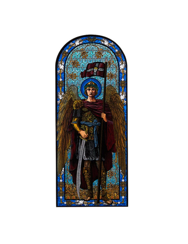 "8"" H Saint Michael Window Cling Saint Michael Window Cling  Military Protection St. Michael Armed Forces Protection Armed Forces Guidance"