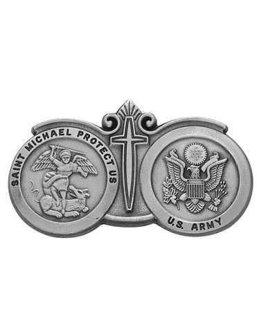 U.S. Army St. Michael Visor Clip Military Protection Armed Forces Protection Armed Forces Guidance