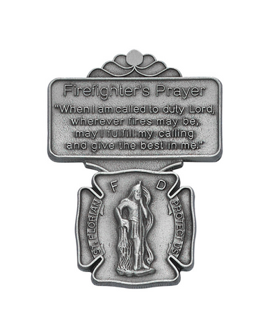 Firefighter St. Florian Visor Clip  St. Florian Visor Clip  Military Protection Armed Forces Protection Armed Forces Guidance