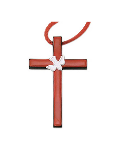 Confirmation Dove Cross Necklace - 6 Pieces Per Package