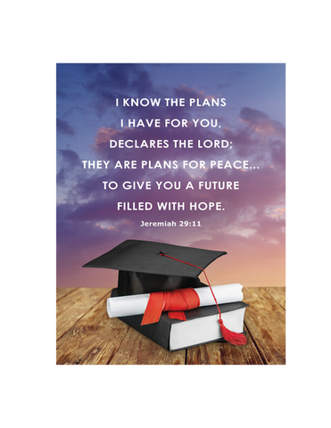 Graduation Plaque - Hope and Future graduation gift graduation souvenir graduation present graduation keepsake