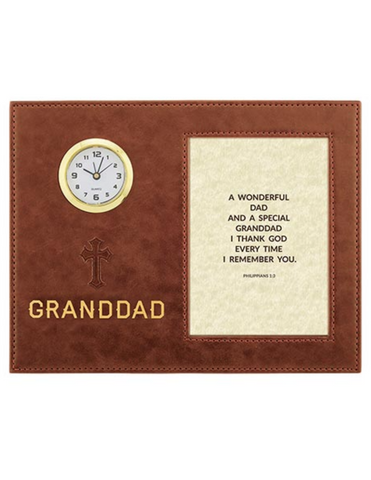 Framed Table Clock - Granddadf ather's day gift father's day keepsake father's day symbols