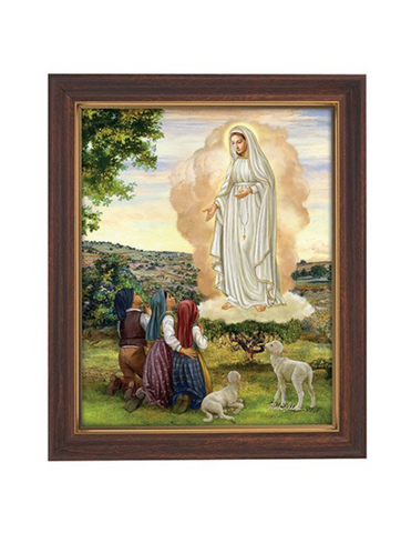 Our Lady of Fatima Woodtone Finish Framed Print Our Lady of Fatima symbol Our Lady of Fatima item Our Lady of Fatima gift Our Lady of Fatima keepsake