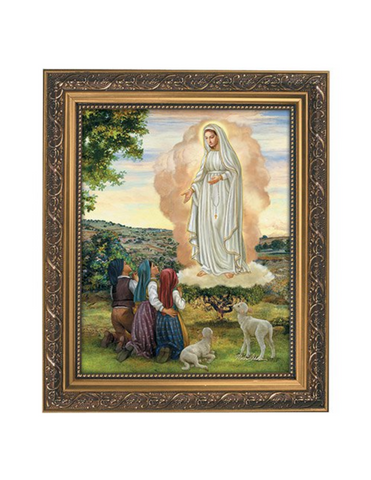 Our Lady of Fatima Ornate Gold Finish Framed Print Our Lady of Fatima symbol Our Lady of Fatima item Our Lady of Fatima gift Our Lady of Fatima keepsake