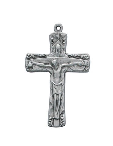 Trinity Crucifix with an Adjustable Cord Holy Trinity Father, Son and the Holy Spirit Holy Trinity Catholic items Holy Trinity keepsake