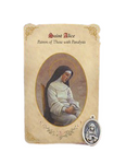 Holy Card St. Alice with Paralysis Healing Medal Set - 6 Pcs. Per Package
