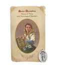 Holy Card St. Dymphna with Neurological Healing Medal Set - 6 Pcs. Per Package