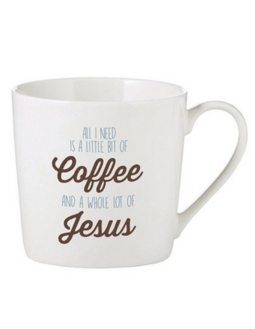 14oz Porcelain All I Need Cafe Mug
