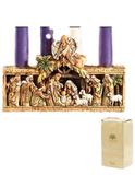 "5""H Candleholder - Nativity Advent"