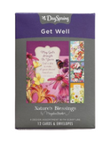 Spring Time Various Get Well Card | 12 Boxed Cards w/ Envelopes