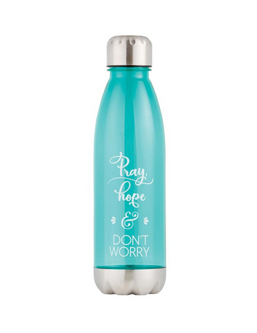 Pray, Hope and Don't Worry - Water Bottle