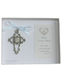 Baby Cradle Medal with Blue Ribbon