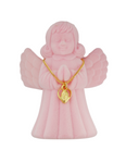 "13"" Miraculous Heart Children Medal with Pink Angel Box"