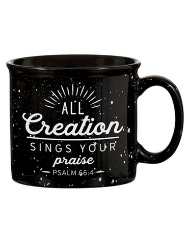 13oz Ceramic All Creation Black Campfire Mug