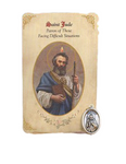 Holy Card St. Jude with Desperation Healing Medal Set - 6 Pcs. Per Package