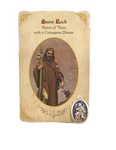 Holy Card St. Roch with Disease Healing Medal Set - 6 Pcs. Per Package