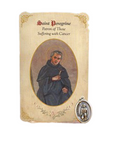 Holy Card St. Peregrine with Paralysis Healing Medal Set - 6 Pcs. Per Package