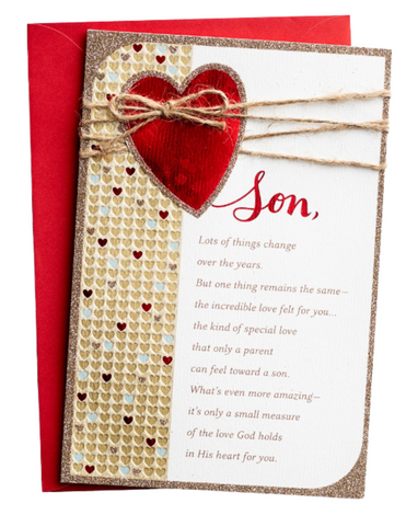 Valentine's Day - Son - Loved Every Day - 1 Premium Card