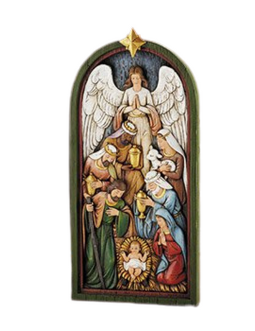 "14""H Nativity Plaque"