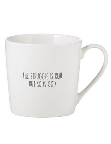 14oz Porcelain Struggle is Real Cafe Mug