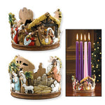 "3.50""H Candleholder Nativity Advent"