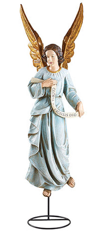 "32"" H Nativity Figurine - Hand Painted Gloria Angel"