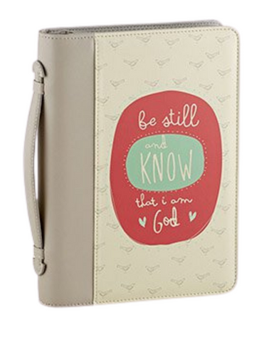 Be Still - 2 Tone Leather Like Bible Cover