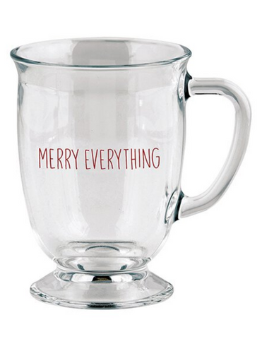 16oz Merry Everything Large Glass Mug