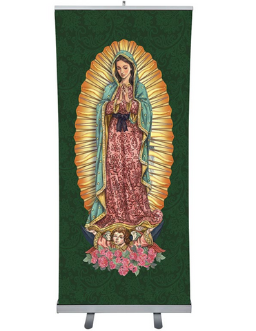 "72"" H Our Lady of Guadalupe Retractable Banner"