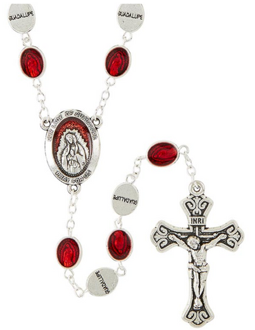 Our Lady of Guadalupe Silver Plated Rosary