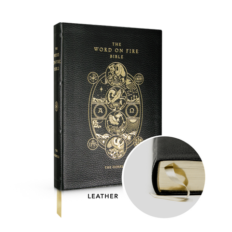 Word on Fire Bible (Volume 1): The Gospels - Leather  By Bishop Robert Barron