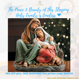 "6"" H Sleeping Holy Family Figurine"