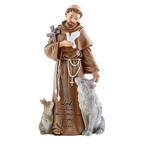 "8"" St. Francis of Assisi Figurine"