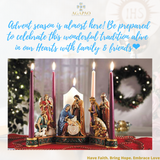 "7.5"" Nativity Advent Candleholder"