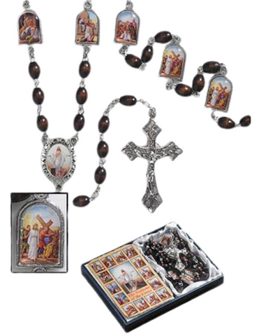Stations of the Cross Chaplet - 2 Pieces Per Set