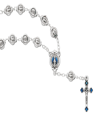 All Metal Miraculous Auto Rosary