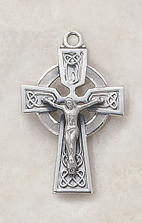 "Heritage Celtic Crucifix With 24"" Chain"