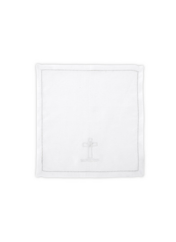 Baptismal Napkin - Embroidered  Cross & Dove