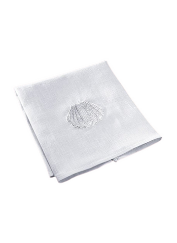 Baptismal Napkin - Embroidered Shell