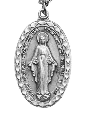 "The Heritage Miraculous Medal With 24"" Chain"