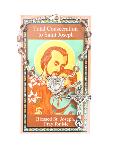 Total Consecration to St. Joseph Auto Rosary and Prayer Card Saint Joseph Consecration Kit Total consecration to st joseph Total consecration to saint joseph Total consecration to st. joseph