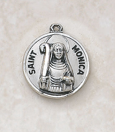 "Sterling Patron Saint Monica Medal w/ 18"" Chain"